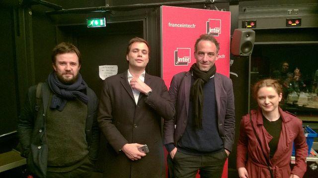 Vincent Carry,Charles Consigny,Raphaël Glucksmann et Tatiana