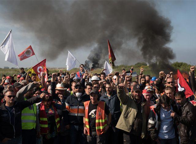 Déblocage de la raffinerie de Donges.