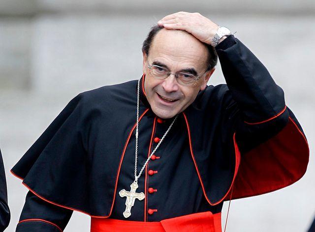 Mgr Philippe Barbarin au Vatican, en 2014