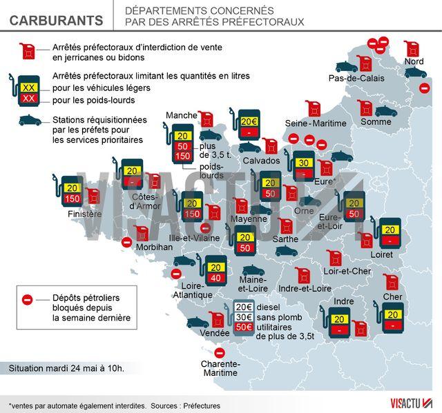 Carburants : le point sur les arrêts électoraux