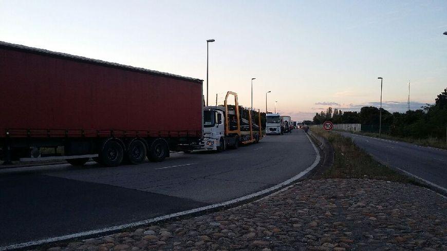 Action des routiers à Fos-sur-Mer
