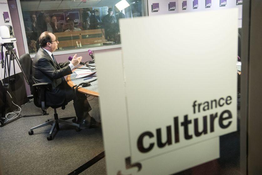 François Hollande dans les studios de France Culture