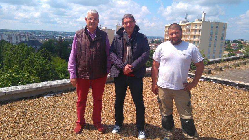 Le trio de promoteurs : Xavier Contant, Stéphane Galibert et Rémy Deniau