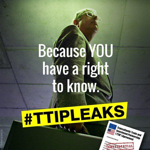 Greenpeace a publié ces documents sur http://ttip-leaks.org/