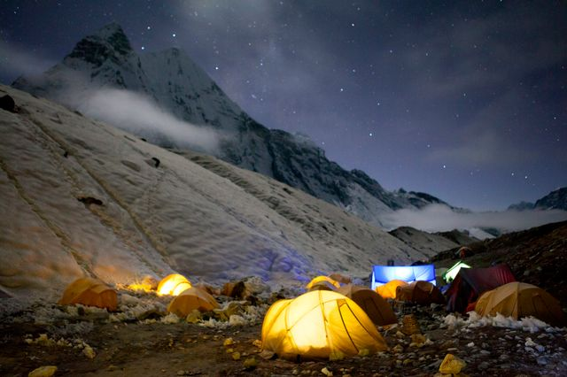 "Camp de base ""Island Peak"" dans le Sagarmatha National Park au Népal"
