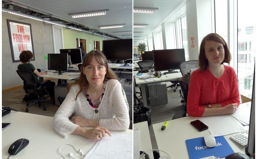 Camille Couprie, chercheuse pour Facebook, et Pauline Luc, thésarde doctorante