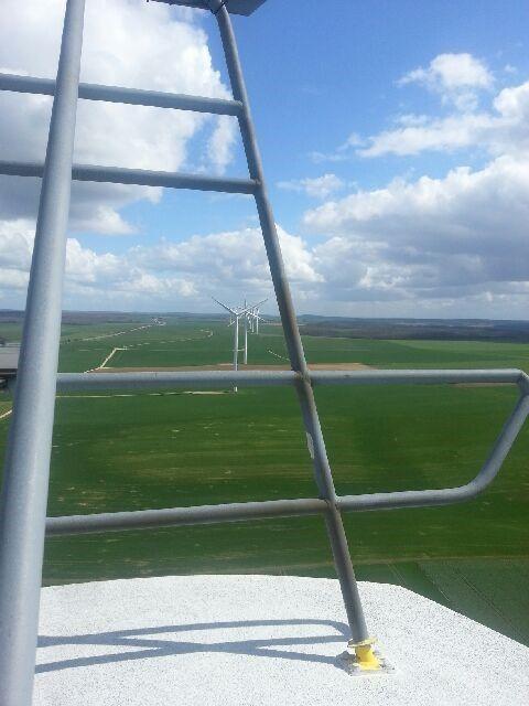 Le parc éolien de Châtres (Aube)