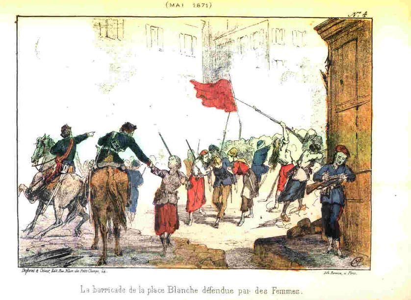 Commune de Paris : la barricade des femmes, Place Blanche