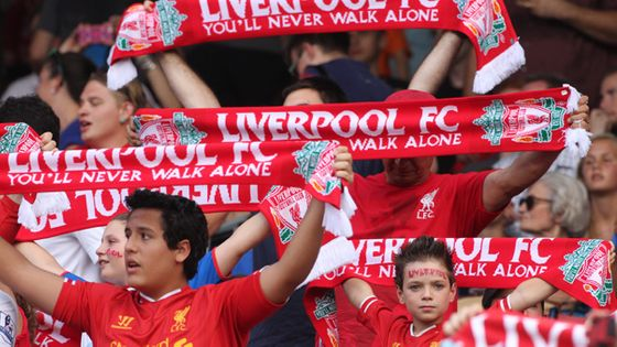 Des supporters de Liverpool FC en 2014 avant un match contre l'AS Rome ©TimClayton/GettyIlmages