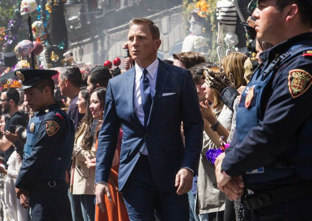 "Scène d'introduction de ""007 Spectre"" : Daniel Craig à Maxico"