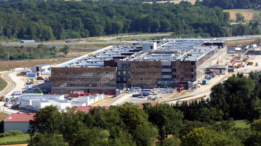 Le chantier du site de l'hôpital Nord Franche-Comté