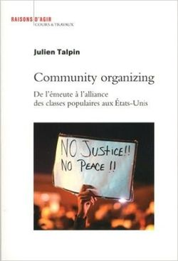 Community organizing, Julien Talpin (Raisons d'agir, 2016)