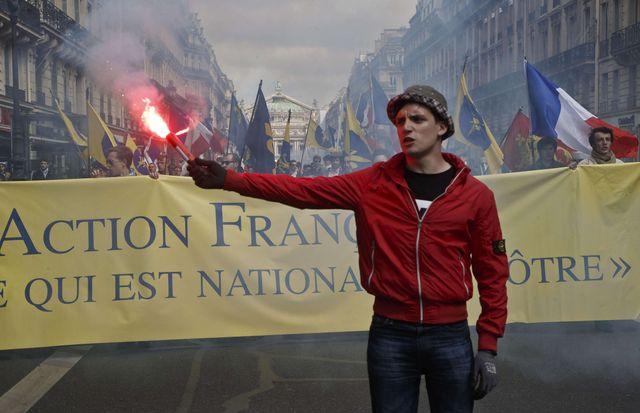 Le défile de l'action Française le 1er mai 2015