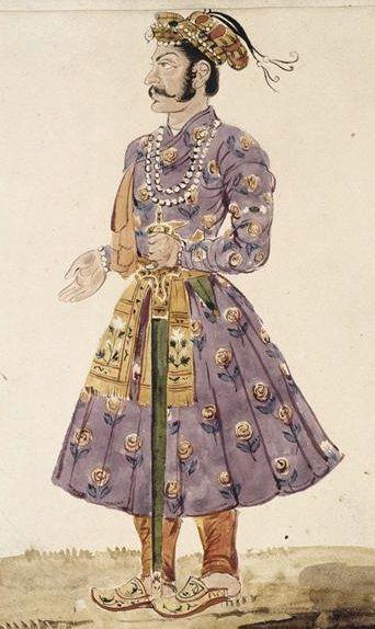 Homme en costume persan, vu de profil vers la gauche