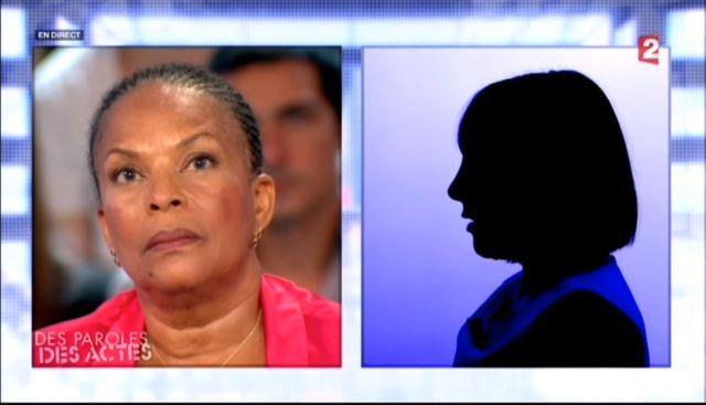 """Christiane Taubira dans """"Des paroles et des actes"""", sur France 2 le 5 septembre 2013."""