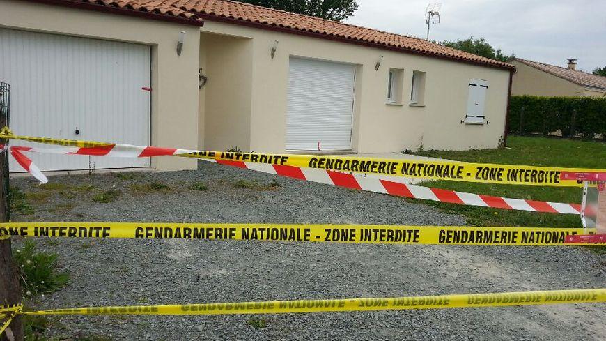 La maison où s'est déroulé le drame à Prahecq
