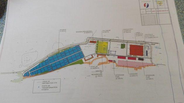 Le plan de la future ferme usine de Hao