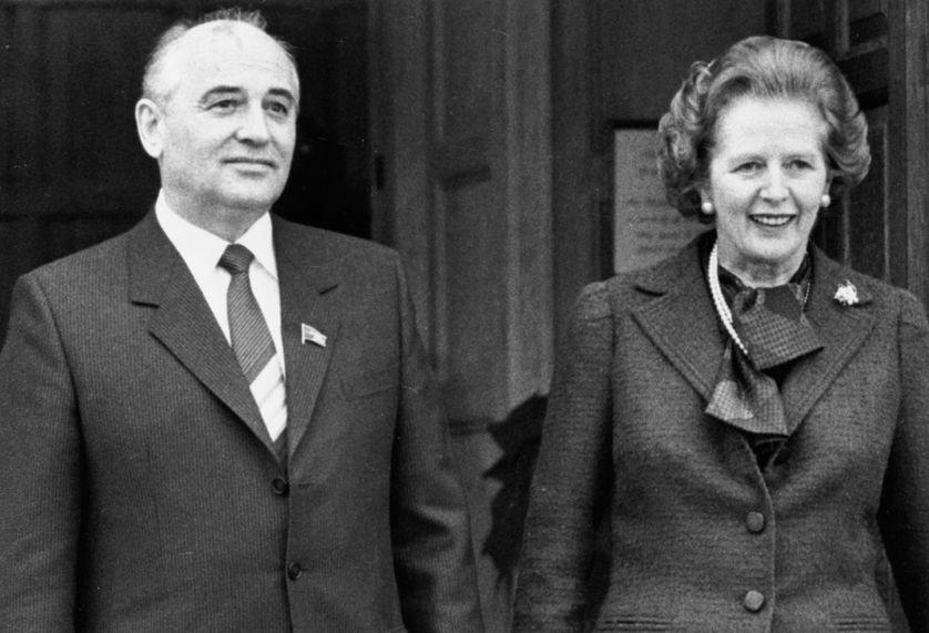Mikhail Gorbachev et Margaret Thatcher, à Londres en 1984