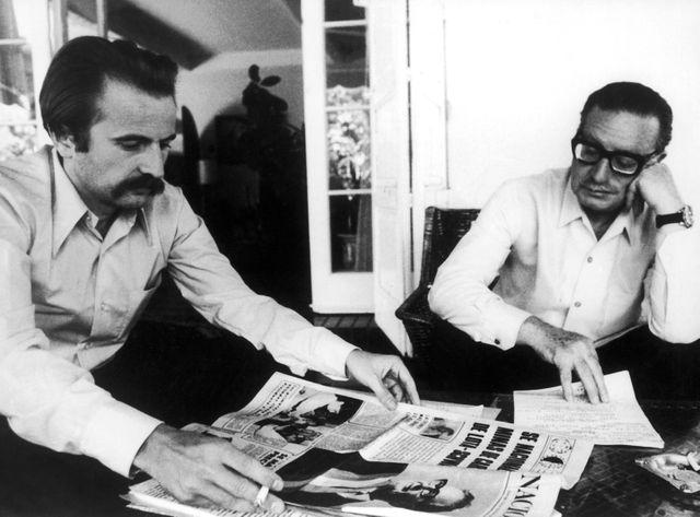 Regis Debray et Salvador Allende au Chili en 1971