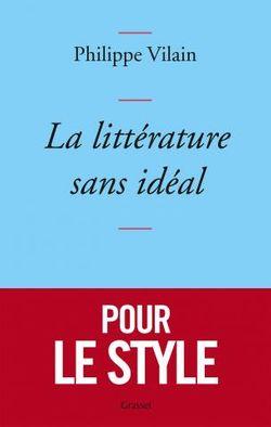 """Couverture """"La littérature sans idéal"""""""
