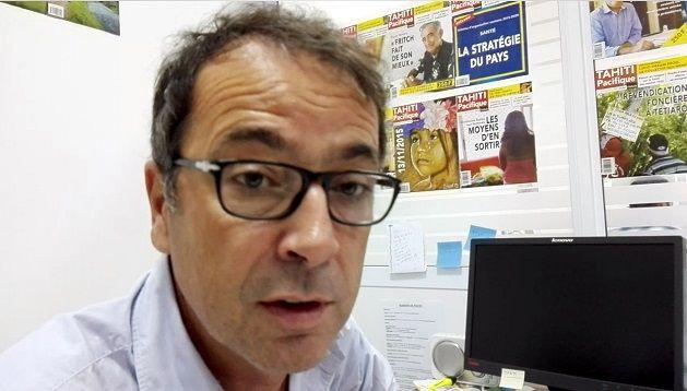 "Bertrand Parent, rédacteur en chef de ""Tahiti Pacifique Hebdo"""