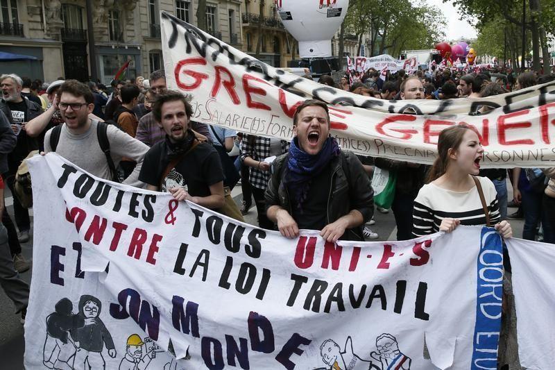 Manifestation parisienne contre la loi travail 17 mai