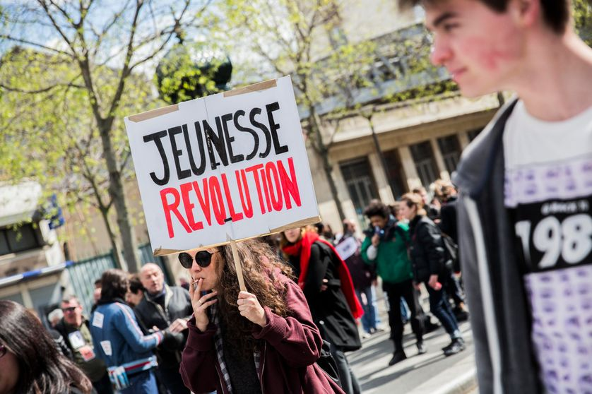 Manifestation à Paris en avril 2016