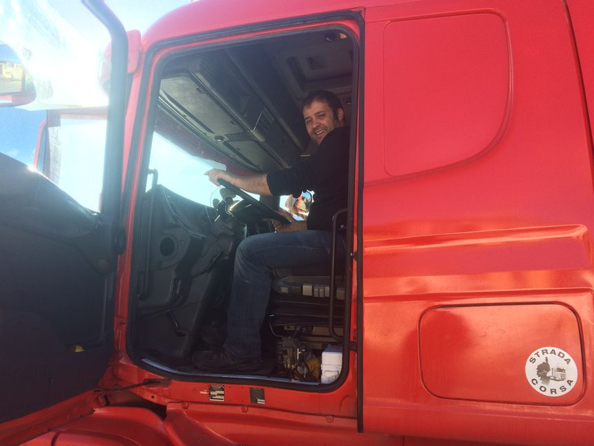 Oriano Choron, chauffeur routier