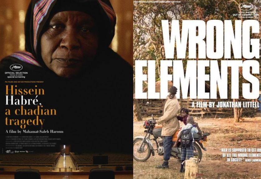 "Affiches des films ""Hissein Habré, une Tragédie Tchadienne"" et ""Wrong Elements"""