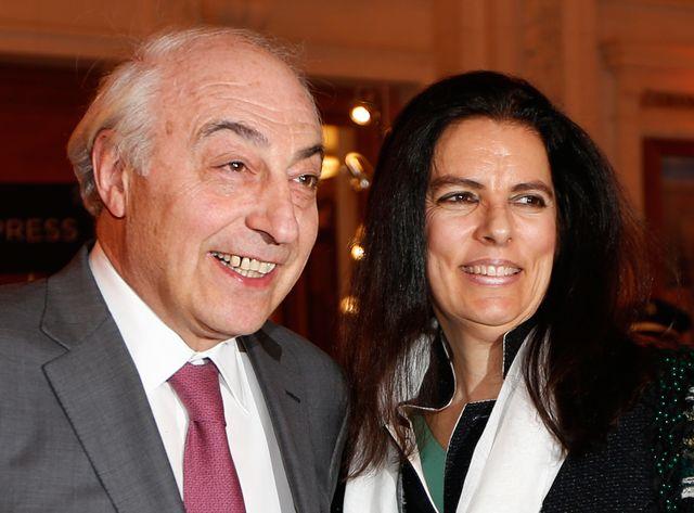Jean-Pierre Meyers et son épouse Françoise Bettencourt, en 2013