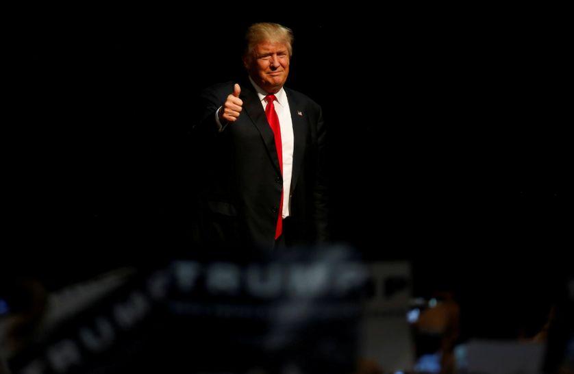 Le candidat Républicain à la Maison Blanche, Donald Trump, Eugene (OR)