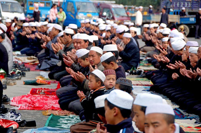 Prière de ramadan à Lingxia, 2007