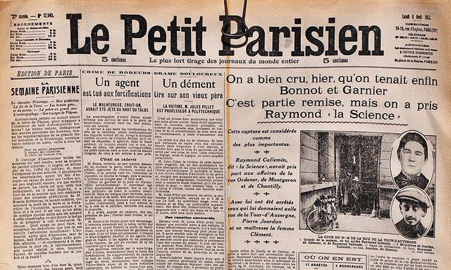 Le petit parisien du 18 avril 1912