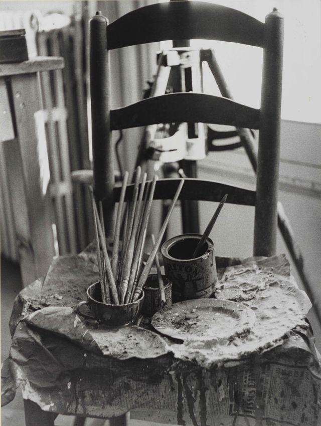 La Palette de Picasso, 1955. Tirage gélatino-argentique. Coll. Bibliothèque Nationale de France