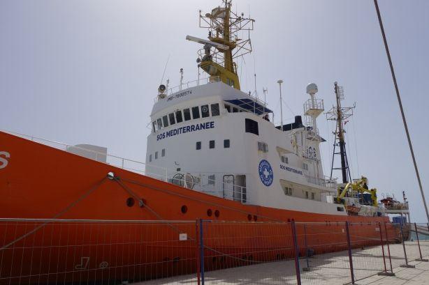 L'Aquarius le bateau de SOS Méditerranée