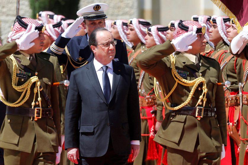 Visite de François Hollande à Amman en Jordanie le 19/04/16