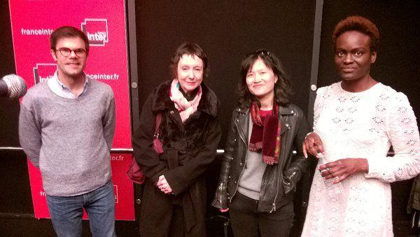 Mathieu Simonet, Maroussia Vossen,Doan Bui et Aya Cissoko