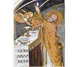 S. Martini, La messe miraculeuse, XIVe. siècle. Assise, église de San Francesco