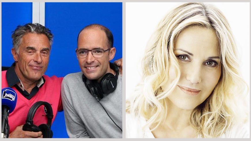 Gérard Holtz, Julien Holtz et Sophie Favier