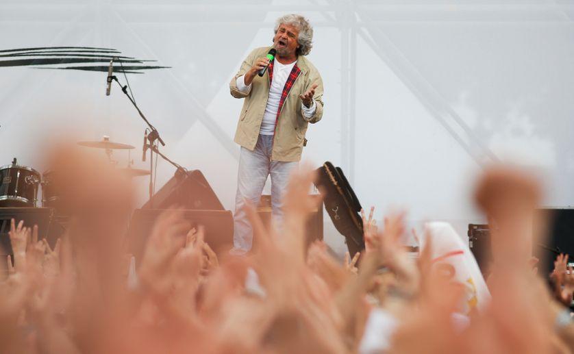 Beppe Grillo, leader du Mouvement cinq étoiles à Rome (mai 2014)