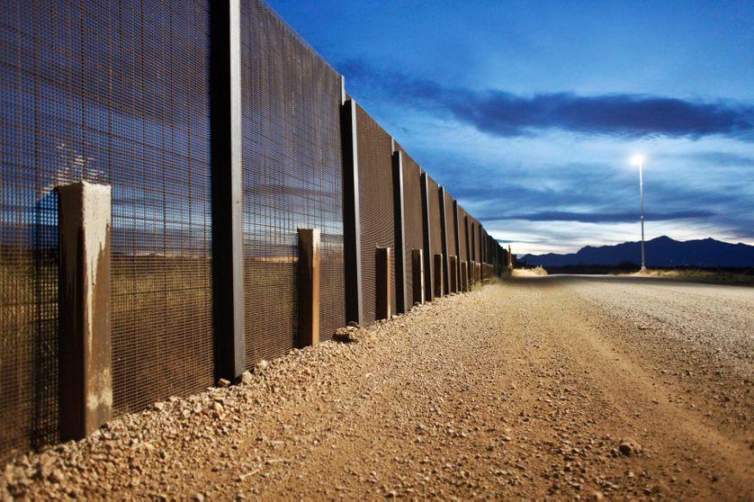 A Naco en Arizona, le grillage à la frontière entre le Mexique et les Etats-Unis