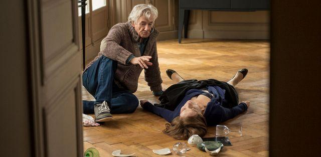 Paul Verhoeven et Isabelle Huppert sur le tournage d'Elle