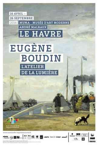 Exposition MuMa Eugène Boudin affiche