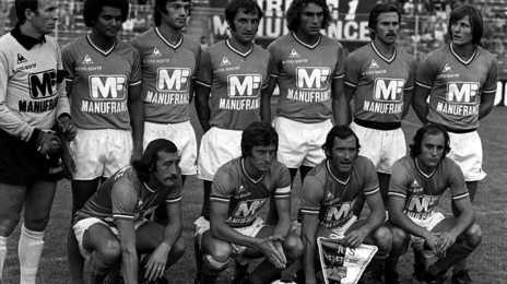 L'équipe de l'AS St-Etienne dans les années 70
