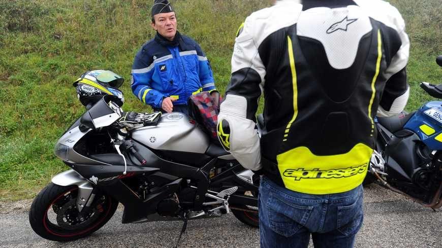 Le motard a été arrêté lors d'un contrôle inopiné des douanes