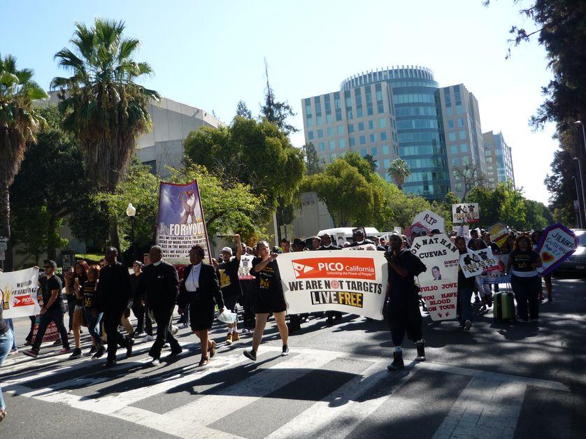 Manifestation contre les violences policières à Sacramento, septembre 2015