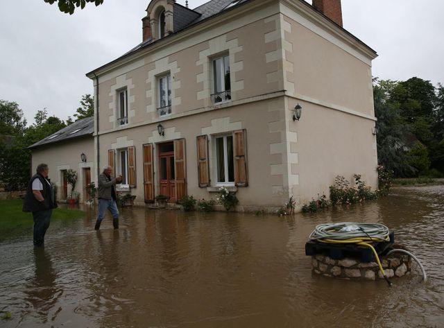 Inondations à Onzain