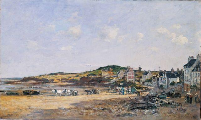 Le port de Portrieux par Eugène Boudin, 1874