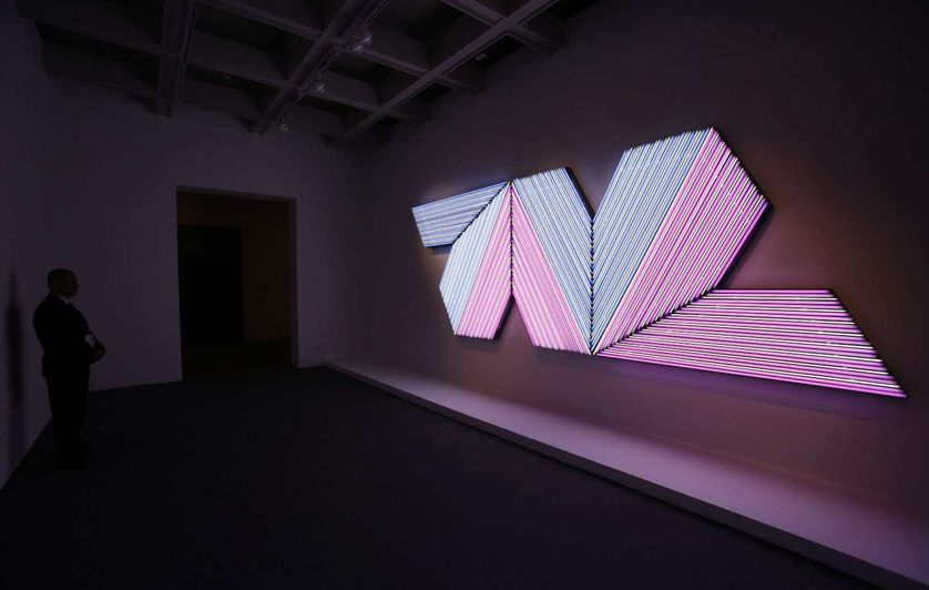 """Empress of India II"" de Bertrand Lavier, Hong Kong Exhibition, 2009"