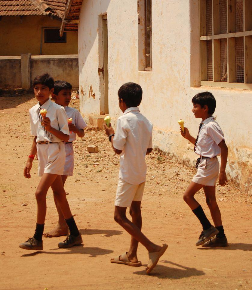 écoliers en Inde